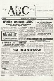 ABC : nowiny codzienne. 1938, nr174 A