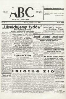 ABC : nowiny codzienne. 1938, nr186 A