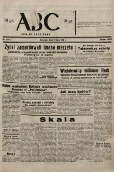 ABC : nowiny codzienne. 1938, nr204 A