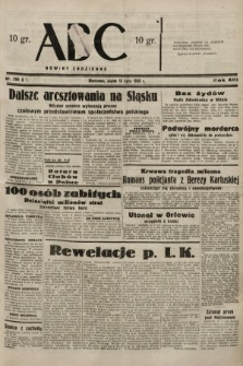 ABC : nowiny codzienne. 1938, nr206 A
