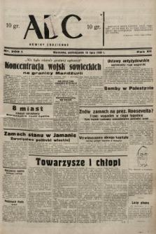 ABC : nowiny codzienne. 1938, nr209 A