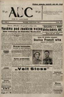 ABC : nowiny codzienne. 1938, nr212 A