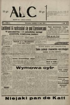 ABC : nowiny codzienne. 1938, nr216 A