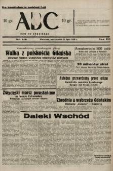 ABC : nowiny codzienne. 1938, nr218 A [ocenzurowany]