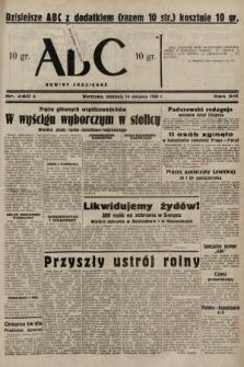 ABC : nowiny codzienne. 1938, nr240 A