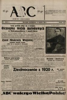 ABC : nowiny codzienne. 1938, nr241 A