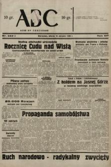 ABC : nowiny codzienne. 1938, nr242 A