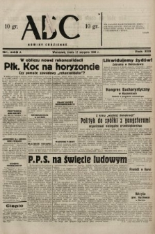ABC : nowiny codzienne. 1938, nr243 A