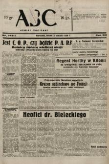 ABC : nowiny codzienne. 1938, nr249 A