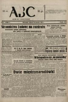 ABC : nowiny codzienne. 1938, nr256 A
