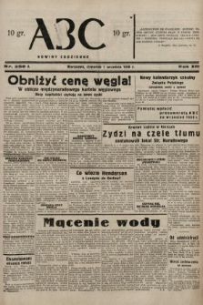 ABC : nowiny codzienne. 1938, nr258 A