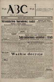ABC : nowiny codzienne. 1938, nr259 A