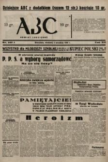 ABC : nowiny codzienne. 1938, nr261 A