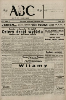 ABC : nowiny codzienne. 1938, nr262 A