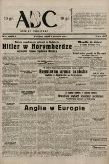 ABC : nowiny codzienne. 1938, nr263 A