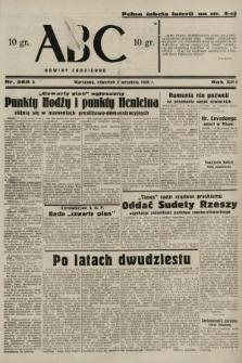 ABC : nowiny codzienne. 1938, nr265 A