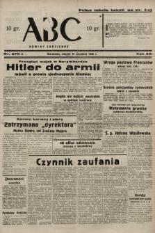 ABC : nowiny codzienne. 1938, nr270 A