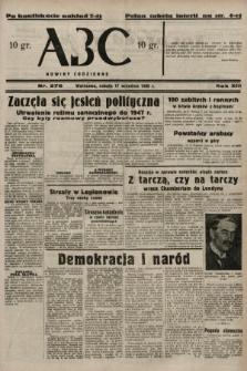 ABC : nowiny codzienne. 1938, nr276 A [ocenzurowany]