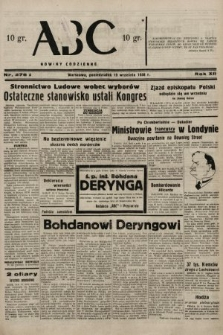 ABC : nowiny codzienne. 1938, nr278 A