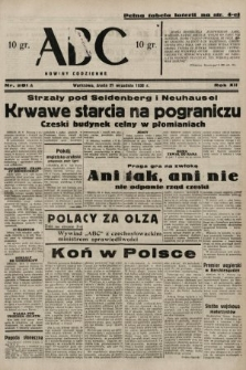 ABC : nowiny codzienne. 1938, nr281 A