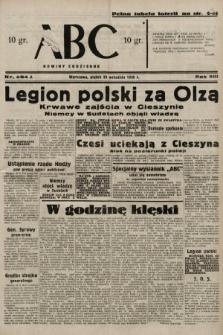 ABC : nowiny codzienne. 1938, nr284 A