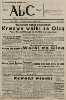 ABC : nowiny codzienne. 1938, nr289 A [ocenzurowany]