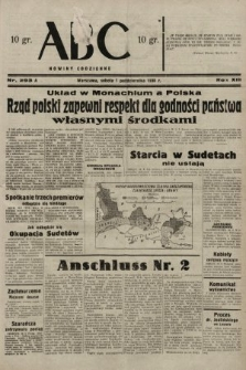 ABC : nowiny codzienne. 1938, nr293 A