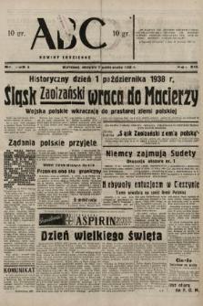 ABC : nowiny codzienne. 1938, nr295 A