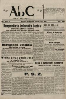 ABC : nowiny codzienne. 1938, nr303 A
