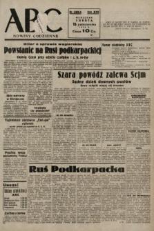 ABC : nowiny codzienne. 1938, nr309 A