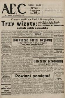 ABC : nowiny codzienne. 1938, nr315 A