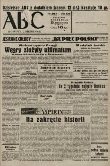 ABC : nowiny codzienne. 1938, nr318 A