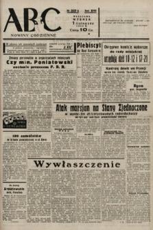 ABC : nowiny codzienne. 1938, nr327 A