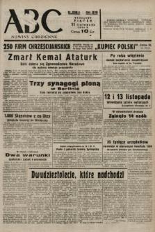 ABC : nowiny codzienne. 1938, nr338 A