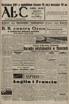 ABC : nowiny codzienne. 1938, nr340 A