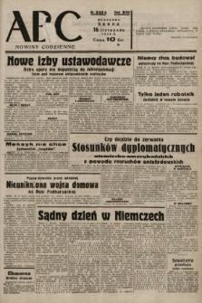 ABC : nowiny codzienne. 1938, nr343 A