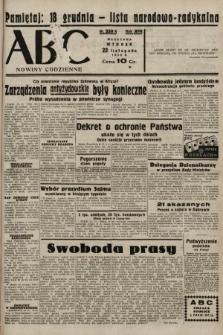 ABC : nowiny codzienne. 1938, nr350 A