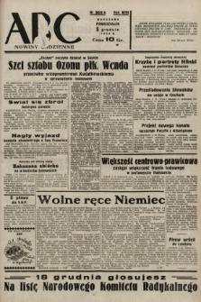 ABC : nowiny codzienne. 1938, nr363 A