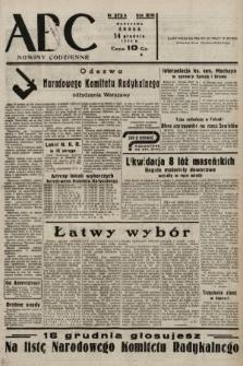 ABC : nowiny codzienne. 1938, nr373 A