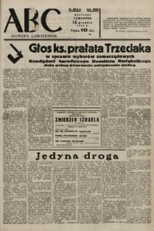 ABC : nowiny codzienne. 1938, nr374 A