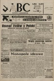 ABC : nowiny codzienne. 1938, nr383 A