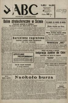 ABC : nowiny codzienne. 1938, nr387 A