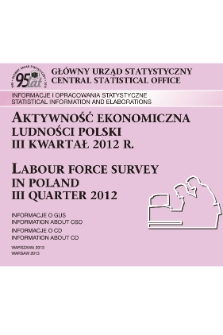 Labour Force Survey In Poland Iii Quarter 2012 Jagiellonian