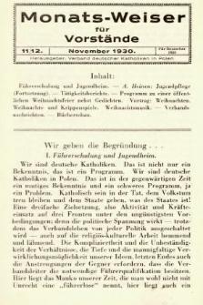 Monats-Weiser für Vorstände. 1930, nr11