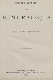 Segundo apendice a la mineralojia