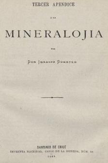 Tercer apendice a la mineralojia