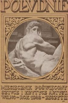 Południe : miesięcznik poświęcony sztuce i krytyce artystycznej. 1921-1922, z. 2