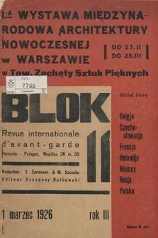 Blok : revue international d'avangarde. R. 3, 1926, nr 11