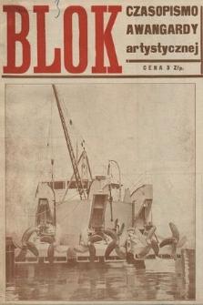 Blok : czasopismo awangardy artystycznej. R. 1, 1924, nr3-4