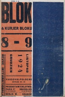 Blok & Kurjer Bloku : revue internationale. R. 1, 1924, nr 8-9